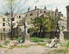 I lövsprickningen. Paris (1881)