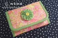3 Fold fabric wallet tutorial  & pattern - Sewlover seam Arts School
