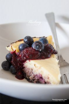 Creamy, Fruity Homemade Blueberry Cheesecake