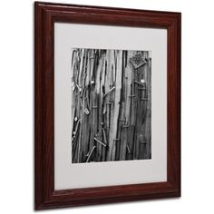 Trademark Fine Art Nails & Staples Matted Framed Art by Patty Tuggle, Wood Frame, Size: 16 x 20, Brown