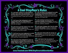 A cool stepmoms rules. I love this it's like my personal Ten Commandments lol