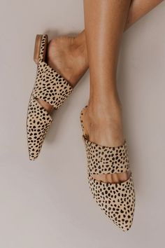 Snake Skin Flats - Cheetah Print Flats | ROOLEE