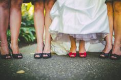 Cute shoe idea for bride and bridesmaids! Matching shoes for all three with the brides in a fun, mysterious hue! Navy Blue Bridesmaid Dresses, Brides And Bridesmaids, Blue Dresses, Wedding Heels, Alternative Wedding, Sexy Feet, Cute Shoes, Garden Wedding, Mysterious
