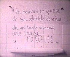 Sorcières-camarades de Danielle Jaeggi (France, 1972, 10 min)  « Un film sur les femmes / Un film par des femmes / Un film pour les femmes / Avec une caméra d'homme. Un jour des femmes verront ces images de notre triste survie et se demanderont comment nous avons pu la supporter. »