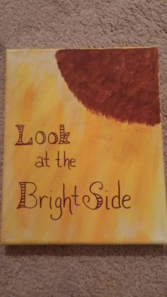 Look at the brightside by MadewithlovebyCathy on Etsy