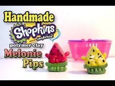 How To Make Shopkins: Melonie Pips Polymer Clay Tutorial! - YouTube