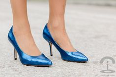 Sorteo Zapatos Pedro Miralles Crimenes de la Moda - heels - blue metallic leather shoes