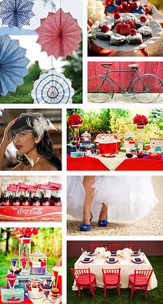 Vintage Americana Wedding, perfect for July!