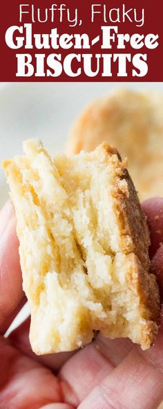 Gluten-free Biscuits! They're fluffy, flaky, and mile-high. Everything you want in a biscuit, but gluten-free! Use any favorite gluten-free flour mix.