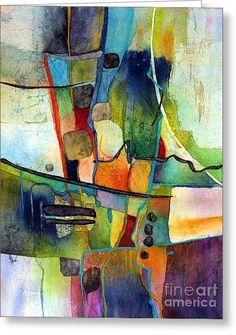 Fluvial Mosaic Greeting Card by Hailey E Herrera