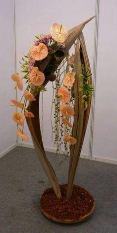 Flower arrangement with #anthurium