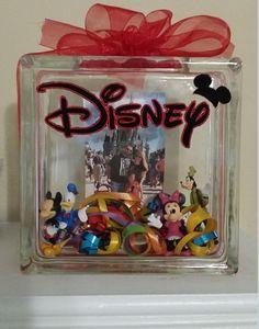 Disney Memory Custom Glass Block Family Glass by MasonAlexanderInc Vinyl Crafts, Crafts To Do, Arts And Crafts, Disney Diy, Disney Crafts, Disney Ideas, Disney Cruise, Lighted Glass Blocks, Decorative Glass Blocks