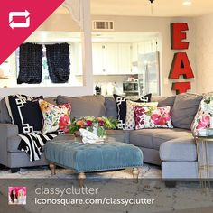 thanks for sharing your lovely living room with us and your wonderful chamberly sectional
