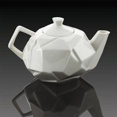 Shatter Tea Set This teapot is a modern take on the traditional white teapot by William Harvey which apparently 'shatters your expectations. Sipping Tea, Teapot Design, Orange Home Decor, Teapots Unique, Orange House, Teapots And Cups, Ceramic Teapots, Chocolate Pots, My Tea