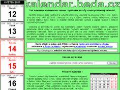 Kalendáře http://kalendar.beda.cz/