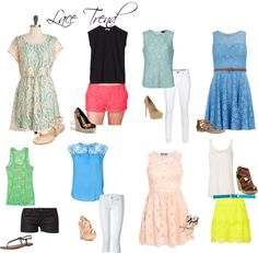 Senior Girl What to Wear / Love the lace trend right now