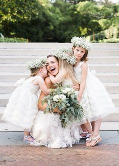 """""""Awww"""" inspiring bride and flower girl moments that are too cute for words: http://www.stylemepretty.com/collection/2946/"""