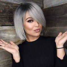 40 gorgeous gray hair styles ideas this year 26 Grey Bob Hairstyles, Bob Haircuts, Hairstyles 2018, Braid Hairstyles, Stylish Hairstyles, Latest Short Haircuts, Popular Haircuts, Medium Hair Styles, Long Hair Styles