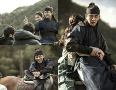 Yoo Ah In and Shin Se Kyung are all smiles during filming of 'Six Flying Dragons' | allkpop