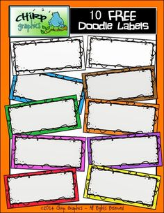 Classroom Freebies Too: Free Doodle Labels Source by Classroom Labels Free, Classroom Borders, Classroom Clipart, Classroom Freebies, Classroom Ideas, Classroom Rules, Classroom Resources, Teaching Resources, Free Clipart For Teachers