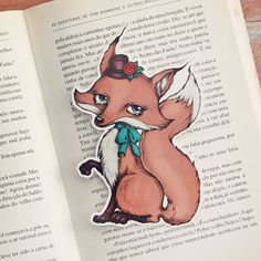 Mademoiselle+Renardette++bookmark+by+ribonitachocolat+on+Etsy