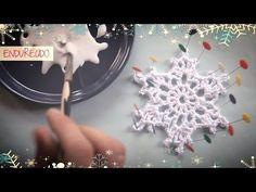 VIdeo tutorial en el que te enseño a hacer un copo de nieve de ganchillo endurecido ¡Muy fácil! Y sobre todo divertido :D Tutoriales gratuitos de crochet