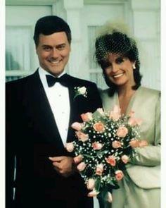 Dallas JR and Sue Ellen remarriage.  starring Larry Hagman and Linda Gray