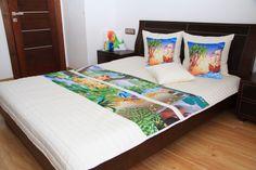 Bílé přikrývky na postel s Disney pohádkovým motivem