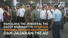 #ENAMPLUS #VIDEO  Panglima TNI Jenderal Gatot Nurmantyo menghadiri acara buka bersama dengan seribu anak yatim piatu di Hanggar Skuadron Pendidikan 102 Lanud Adisutjipto Yogyakarta.