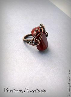 "The ring wire wrap ""The Duchess"" - wire wrap, copper, copper wire, copper ring"