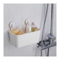 IKEA - STUGVIK, Cesto c/ventosas, , A água escorre facilmente através dos orifícios no fundo.Com ventosa que adere a superfícies lisas.