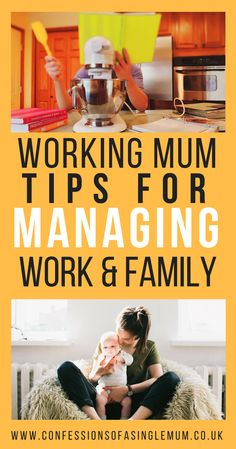 Working Mum - Tips on how to manage work and family #parenting #workingmum