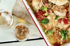 Kyllingform med poteter og asparges