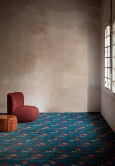 Polyamide carpeting with floral pattern NEBULA By Besana Moquette design Cristina Celestino