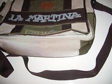 La Martina College Tasche Umhängetasche Canvas naturfarben beige/braun