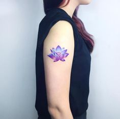 Mystic Lotus Flower Tattoo by IDA