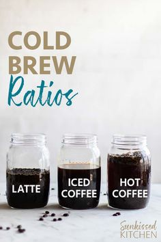 Cold brew at home ~ Perfect water to bean ratio to enjoy cold brew coffee 3 ways Coffee Latte, Espresso Coffee, Best Coffee, Iced Coffee, Banana Coffee, Espresso Drinks, Coffee Barista, Coffee Type, Starbucks Coffee