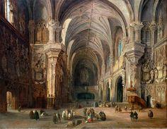 Igrexa de San Juan de los Reyes de Toledo, 1839.  Jenaro Pérez Villaamil