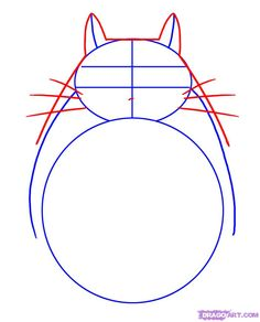 Step 2. How to Draw Totoro from My Neighbor Totoro