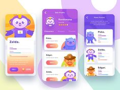Game design 156922368252619133 - Game User Interface – Exploration by Randompopsycle Source by opeyrani Android Ui, Design Android, Game Design, App Ui Design, Flat Design, Design Design, Design Layouts, Mobile Ui Design, Game Interface