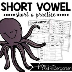 Students can practice their knowledge of short o with these cute activities and worksheets! Make them into games, use them for homework or word work or send them home as homework! #phonics #printables #smallgroups
