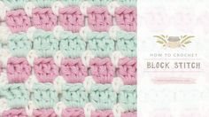 """Learn to Crochet with Girlybunches - Crochet Block Stitch - Tutorial This weeks video. CLICK """"SHOW MORE"""" is how I made this Crochet Block Stitch Check ou. Crochet Block Stitch, Crochet Blocks, Crochet Granny, Baby Blanket Crochet, Free Crochet, Double Crochet, Learn Crochet, Crochet Stitches Patterns, Stitch Patterns"""