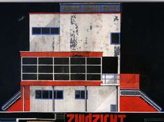 1933 Belgian Architect Bauhaus Villa Blueprint + Drawing Art Deco Modernist | From a unique collection of antique and modern prints at https://www.1stdibs.com/furniture/wall-decorations/prints/