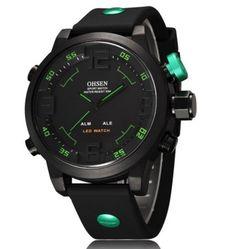 1095caf04ba Pánské hodinky OHSEN voděodolné do 30 metrů zelené – pánské hodinky Na  tento produkt se vztahuje. Luxusní HodinkyPánské Hodinky