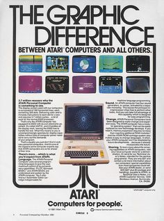 Atari 400 and 800 advertisement from Personal Computing 10-81 | Flickr - Photo Sharing!