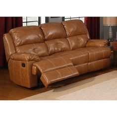 @Overstock.com.com - Nathan Dual Reclining Sofa - You'll never need to fight over the recliner again when you have this Nathan Bonded Leather Sofa. It featuring dual recliners and a middle seat for the pizza box. This couch has a durable hardwood frame and plenty of foam fill for comfort.  http://www.overstock.com/Home-Garden/Nathan-Dual-Reclining-Sofa/7687289/product.html?CID=214117 $845.06