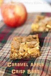 Caramel Apple Crisp Bars on Whisk Together - and they do keep well in the fridge overnight!