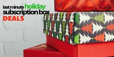 Check out some last minute holiday subscription box gift ideas – and score some hot deals before they disappear!     Last Minute Holiday Deals & Gift Ideas! →  http://hellosubscription.com/2016/12/last-minute-holiday-deals-gift-ideas/   #subscriptionbox
