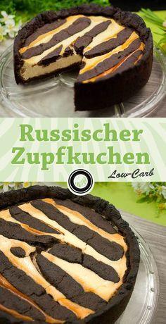 Leckerer Russicher Zupfkuchen. Low-Carb und glutenfrei. Das Rezept gibt es auf www.schwarzgrueneszebra.de
