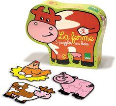 The Farm, 3 Animal Puzzles #2533 #magicforesttoys #vilac